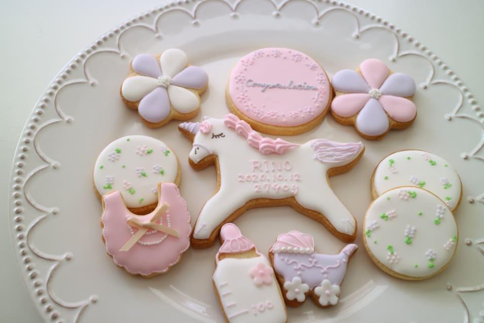 Birthday アイシングクッキー女の子