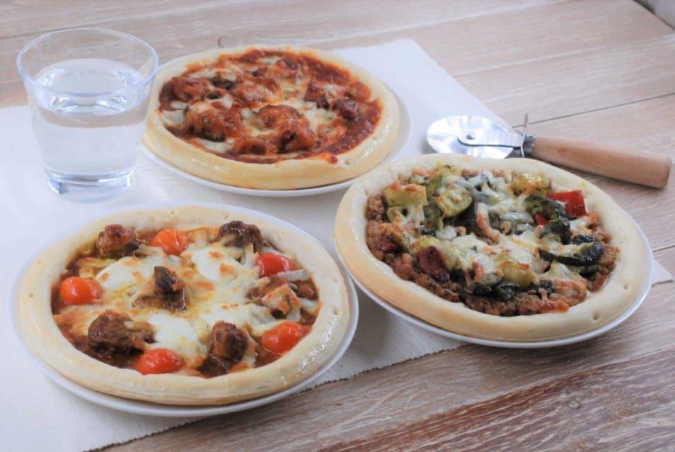 南極カレーのピザセット