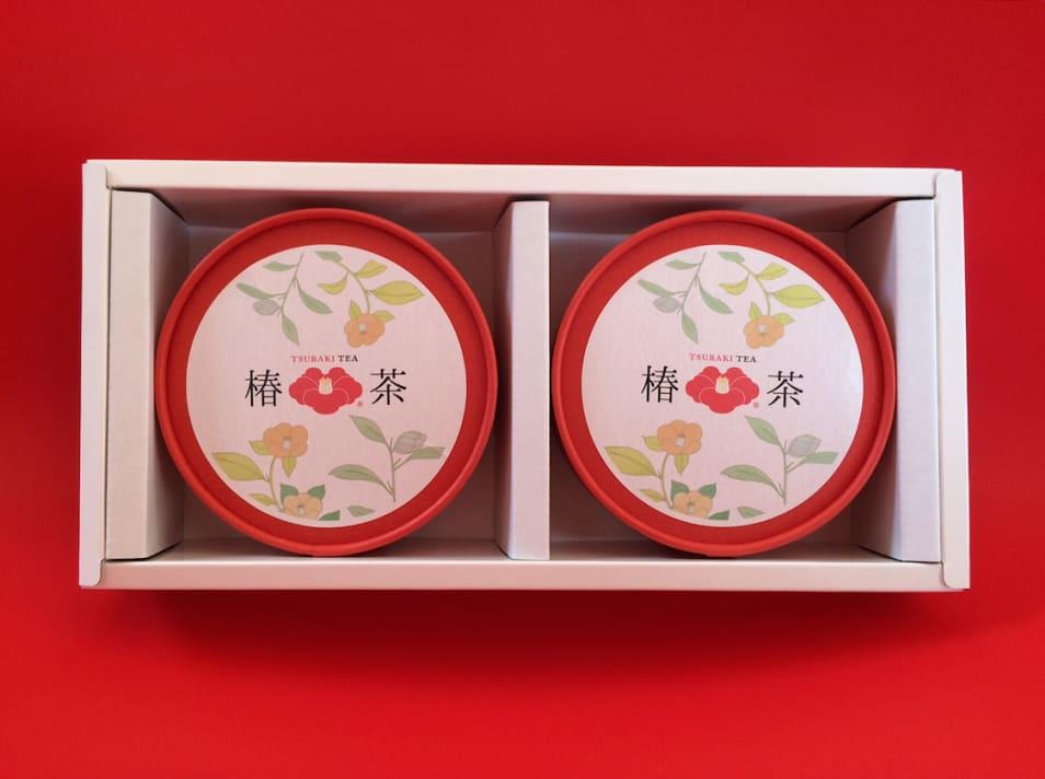 椿茶 丸筒2個セット