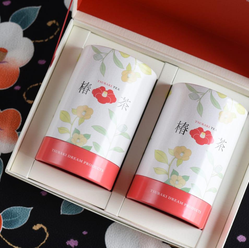 椿茶 茶筒ギフト