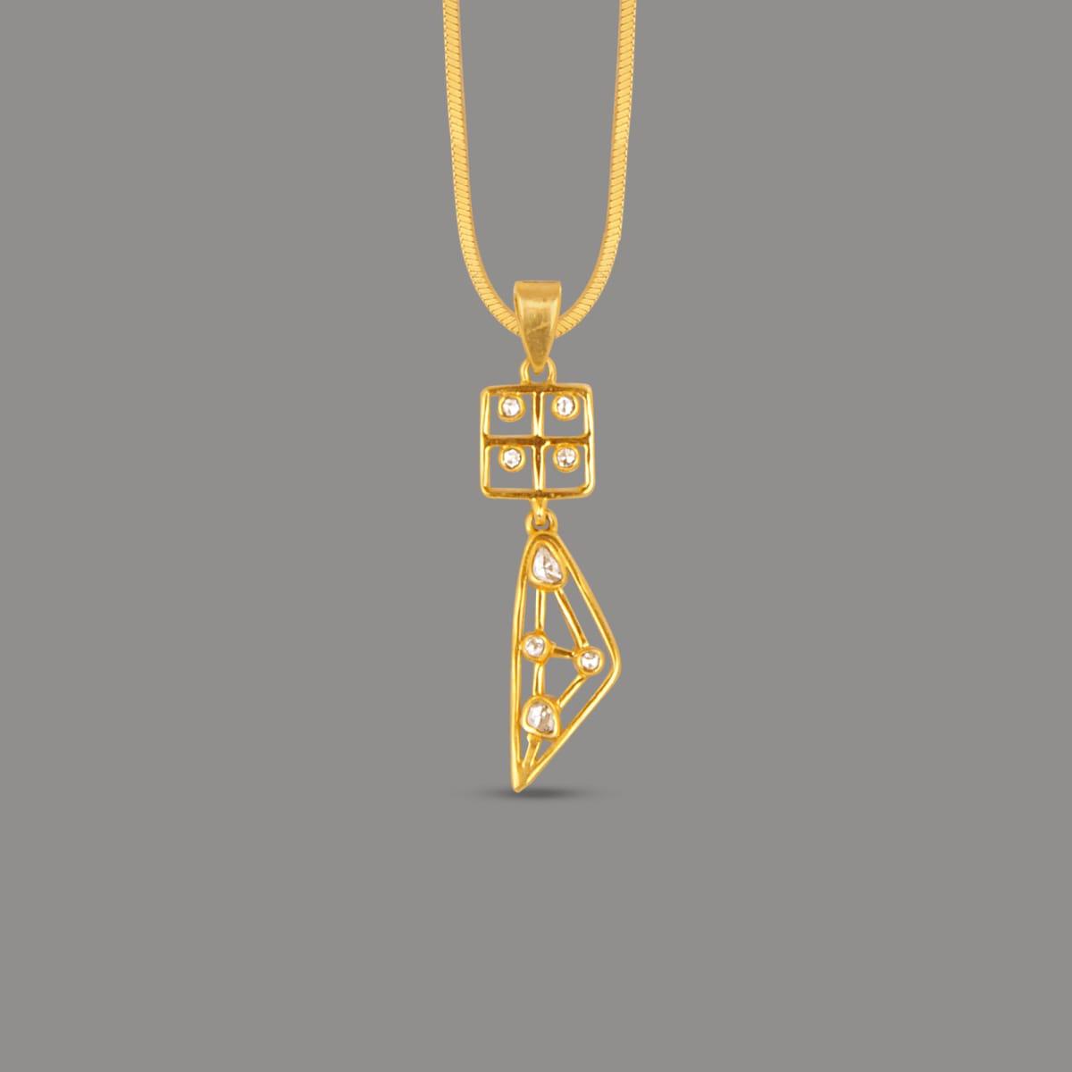 Bariki Un-cut Square Shape  Diamond Pendant