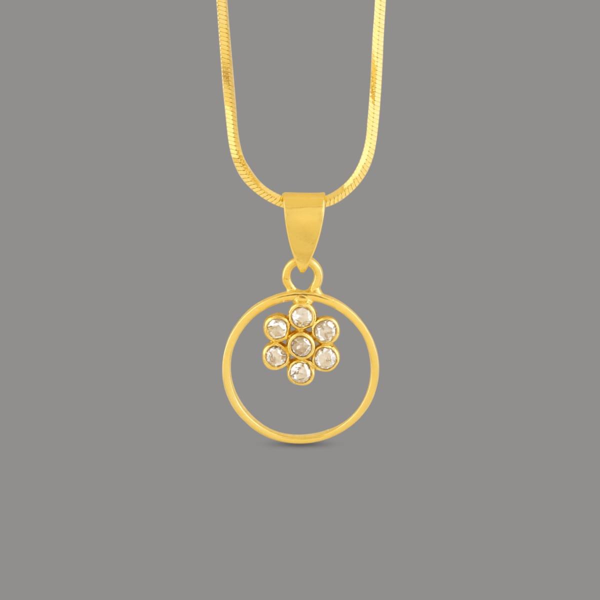 Bariki Uncut Diamond Pendant Round Circle