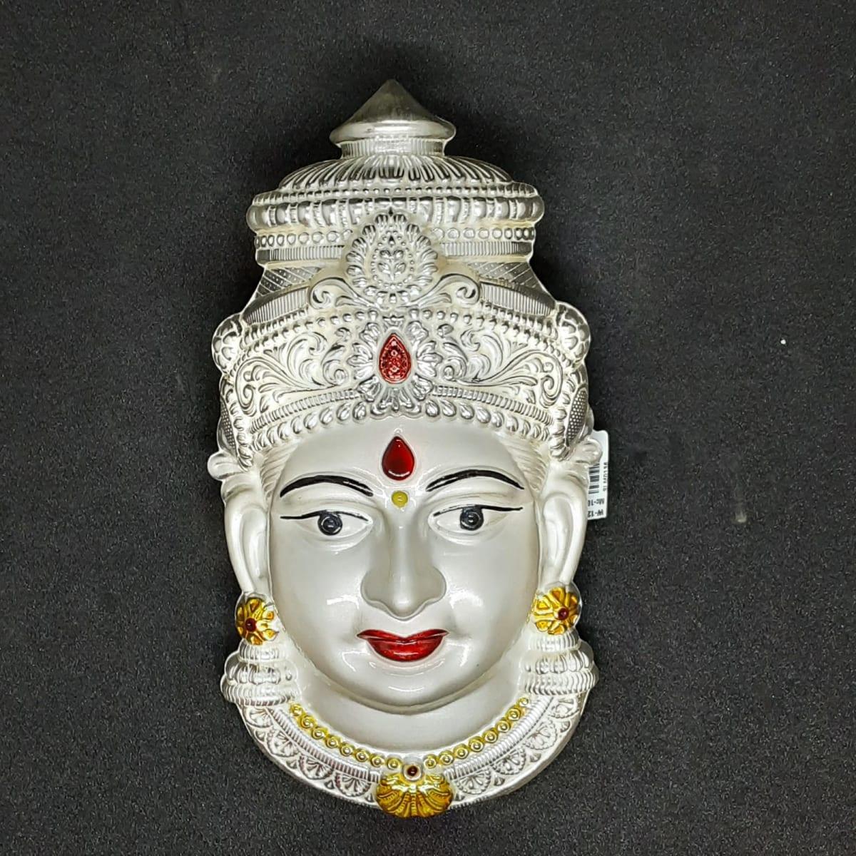 Silver Lakshmi Face