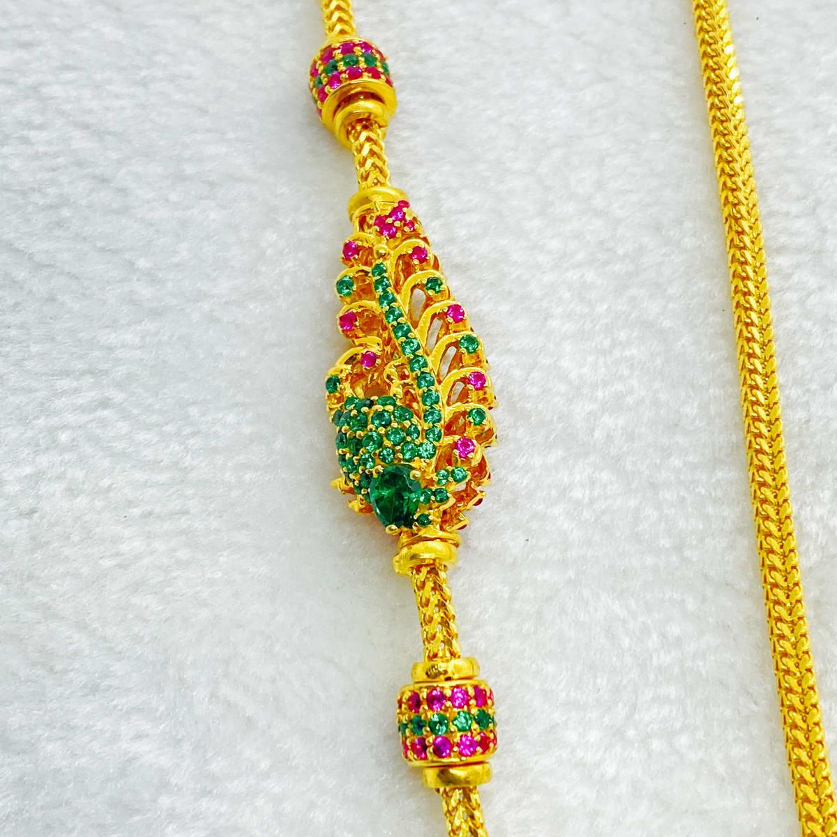 Fancy Double Side Peacock Design Tali Chain Gj0224