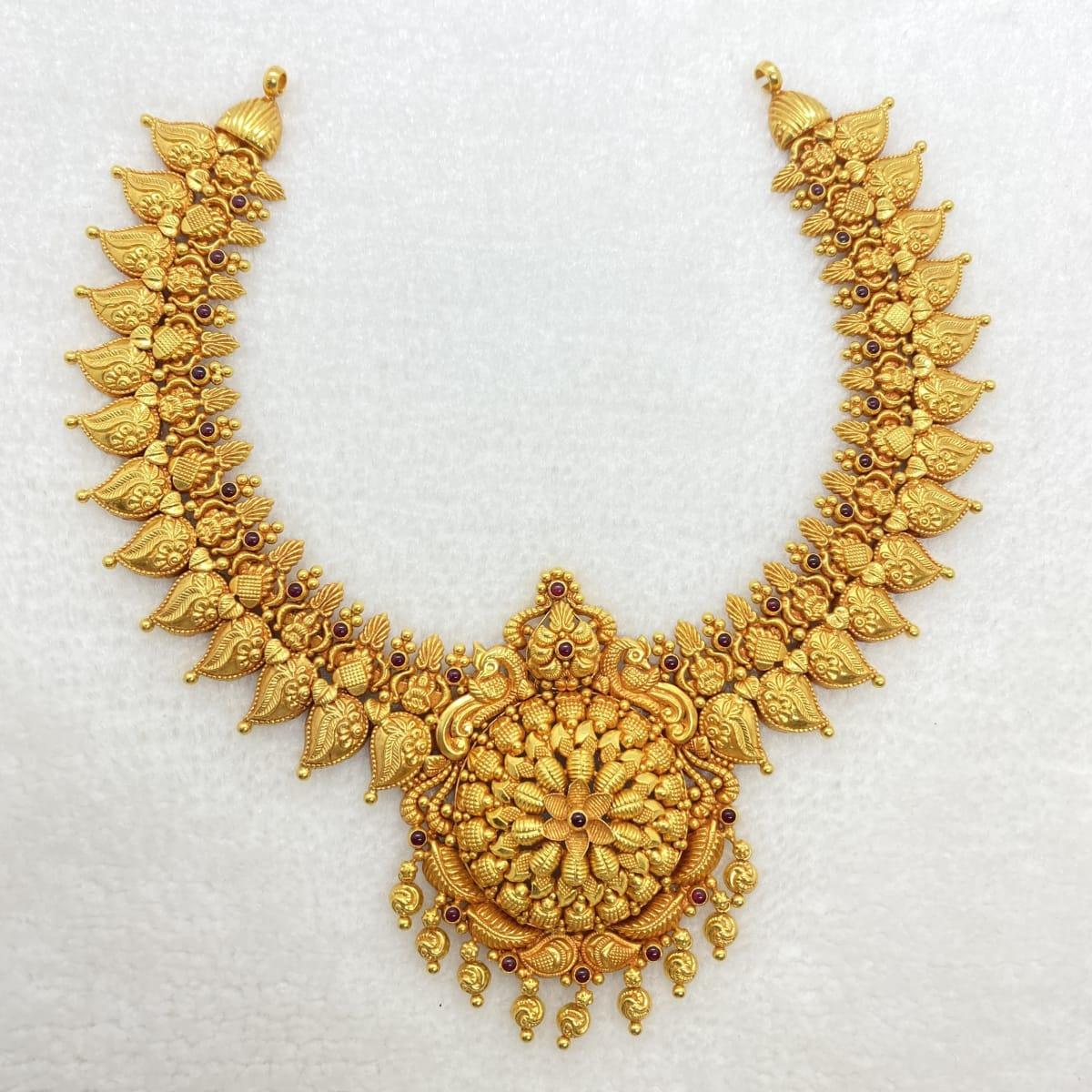 Fancy Antique Flower Design Necklace Gj0021