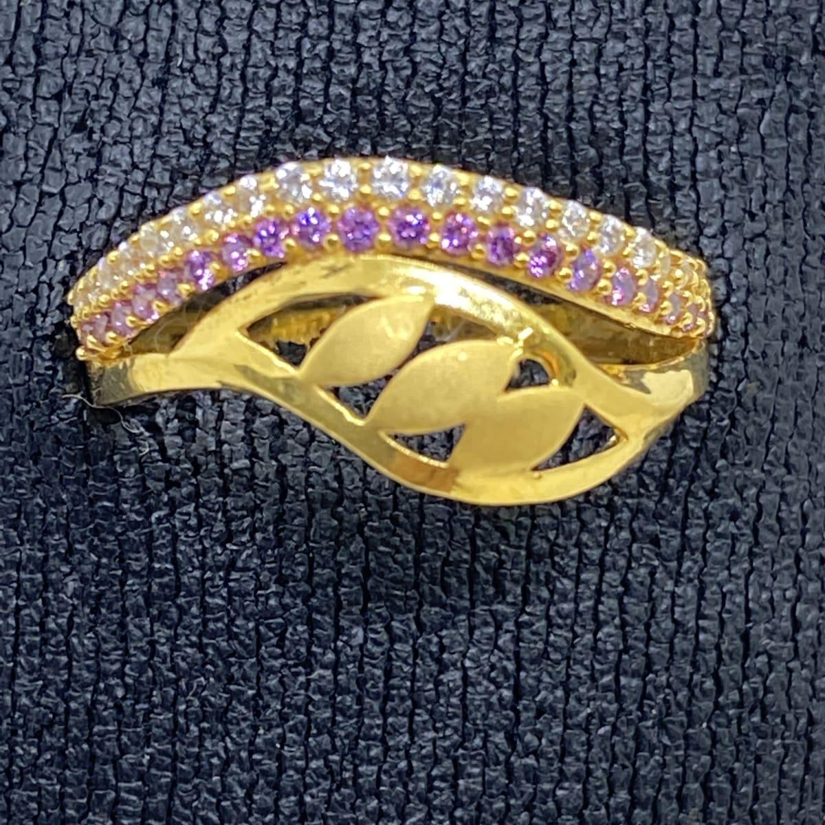 Fancy Casting Cz Stone Ladies Ring Gj0138