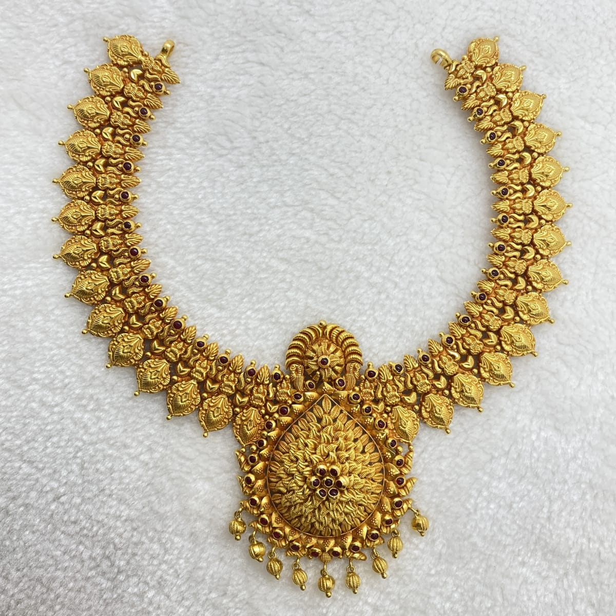 Fancy Antique Gold Beed Necklace Gj0022