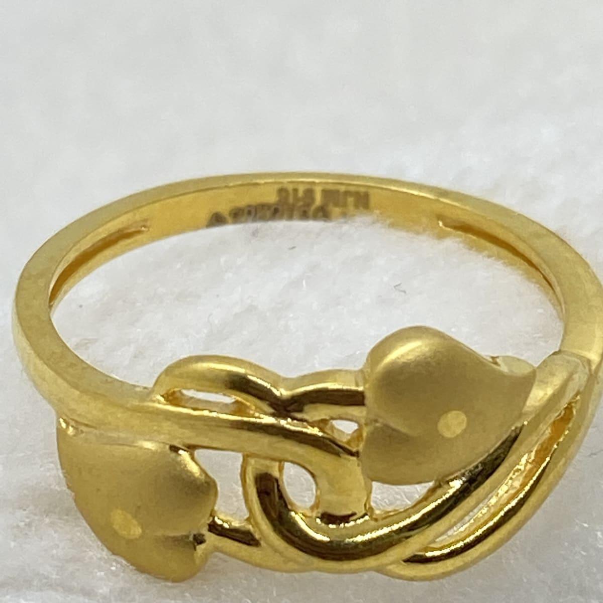 Fancy Casting Double  Ladies Ring Gj0137