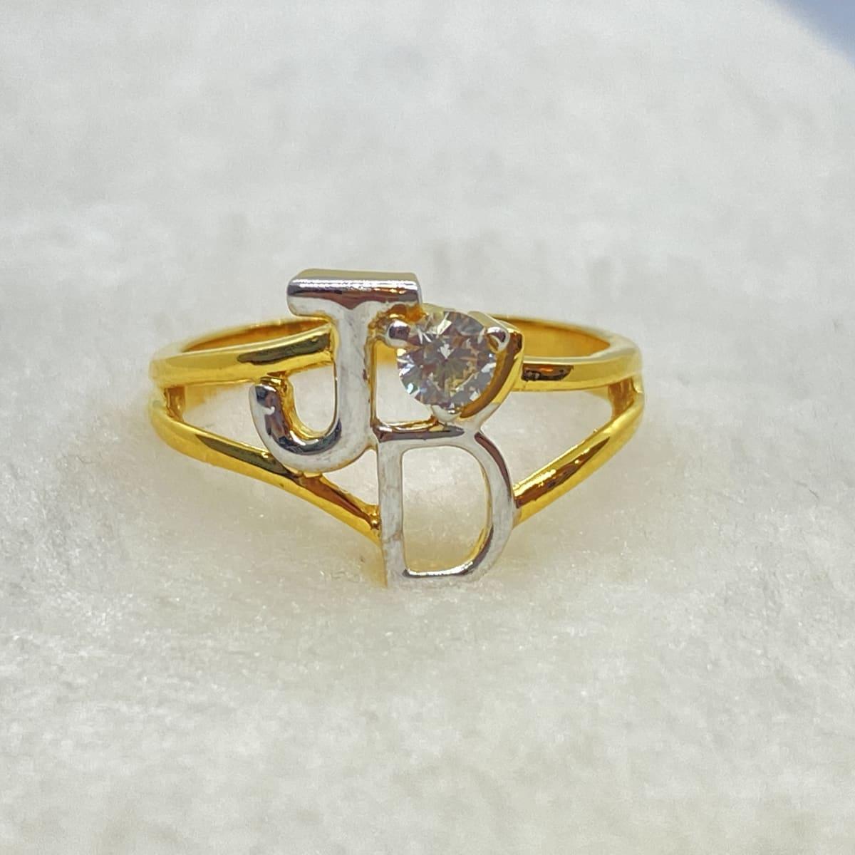 Fancy Initial Engagement Ring Gj0057