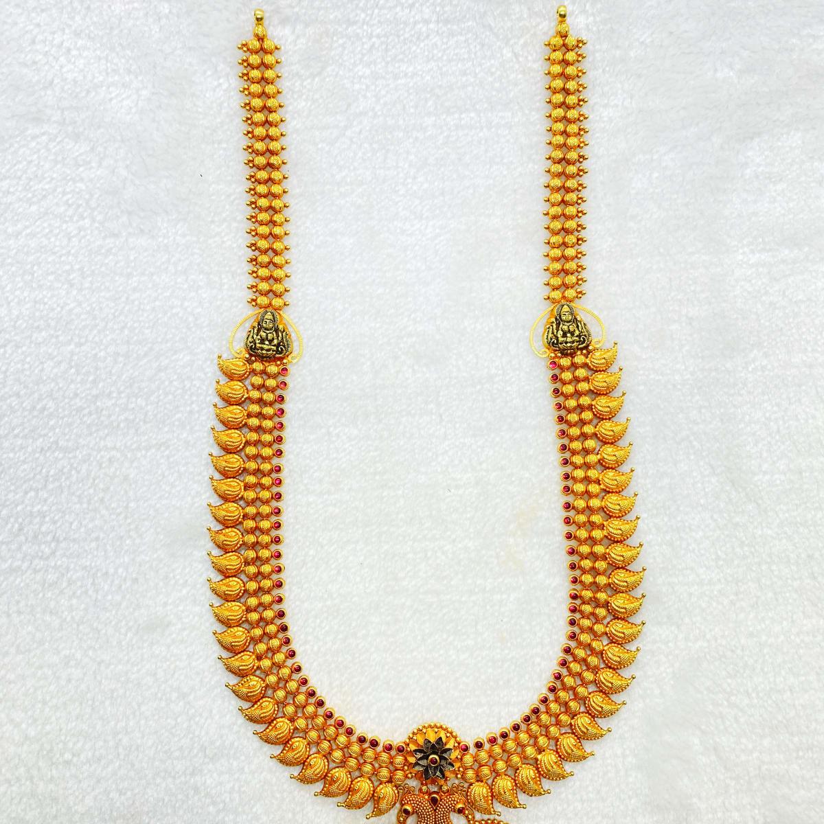 Long U Antique Lakshmi Haram Gj0006