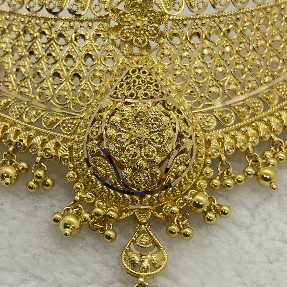 Fancy Gold Balls Choker Gj0121