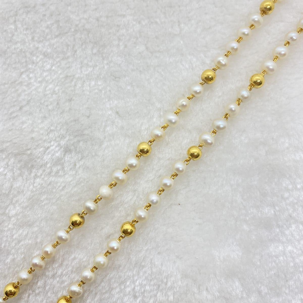 Fancy 2row Pearl Beeds Chain Gj0076