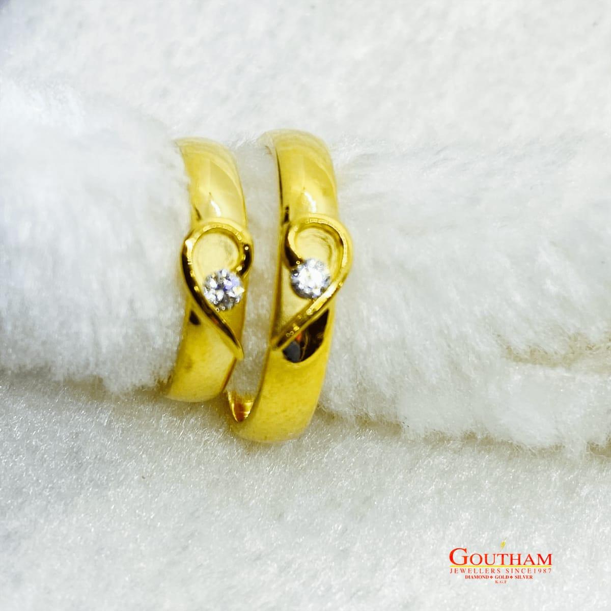 Fancy Heart Casting Couple Ring Gj0247