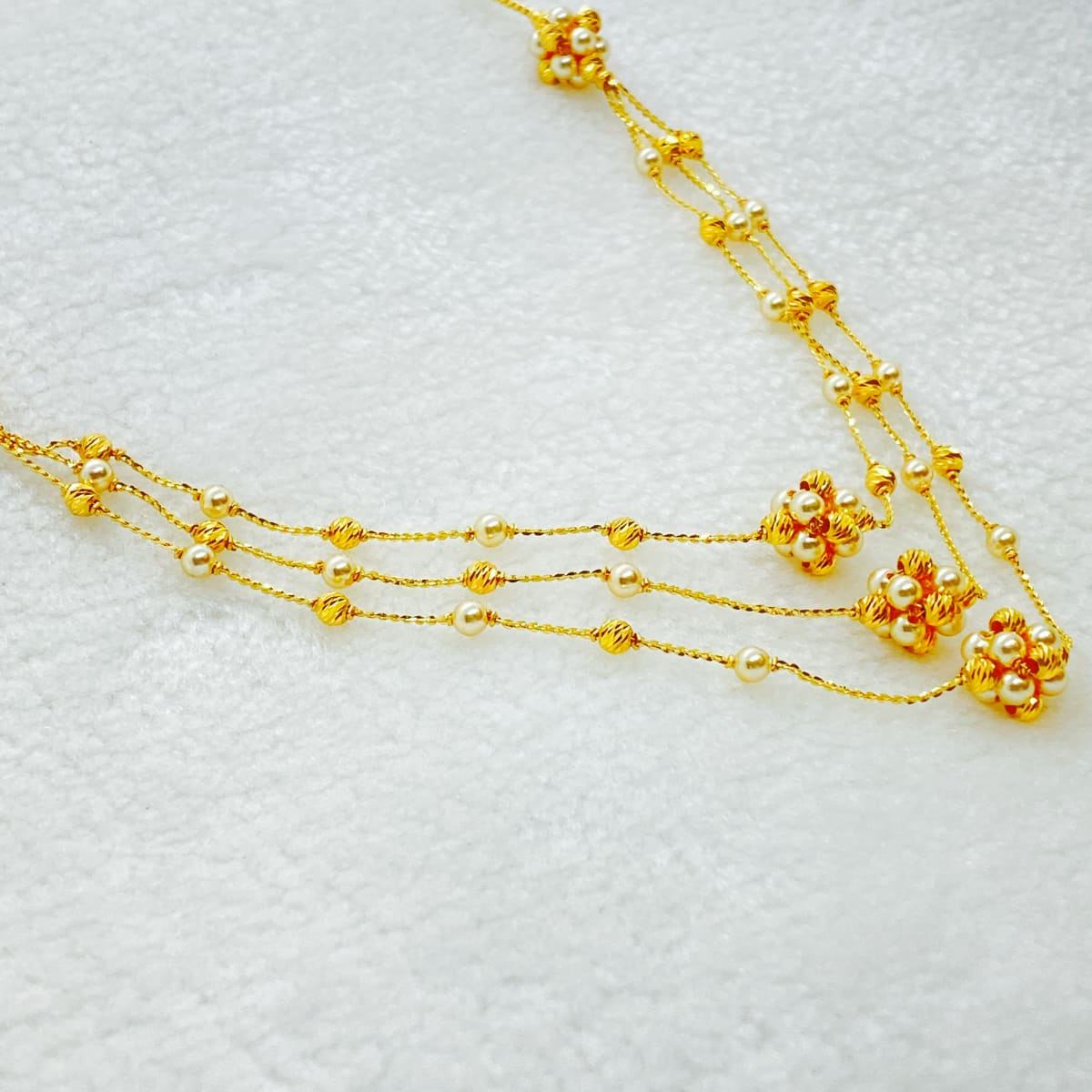 Fancy Exclusive Pearl 3step Chain Gj0223