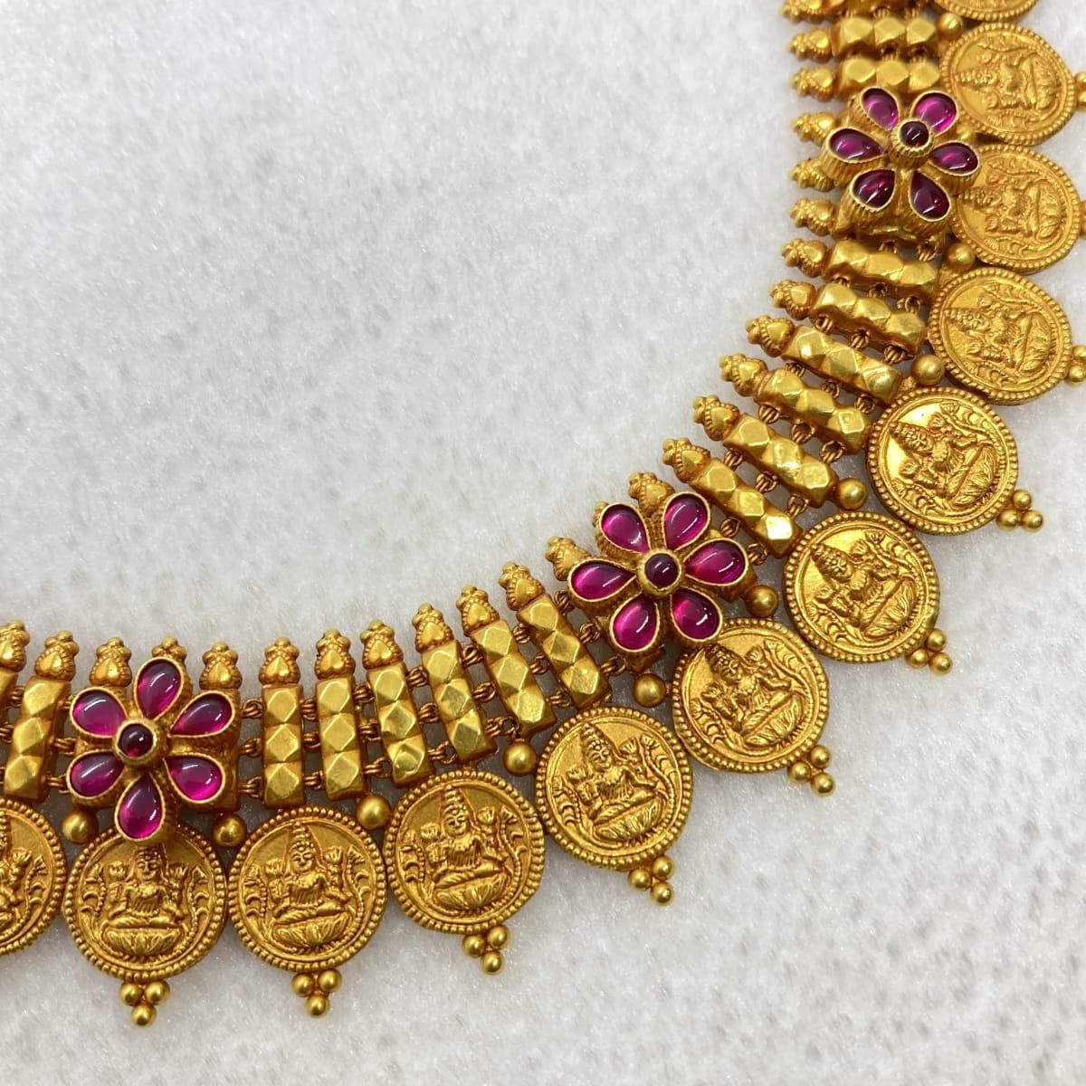 Fancy Antique Lakshmi U Necklace Gj0020