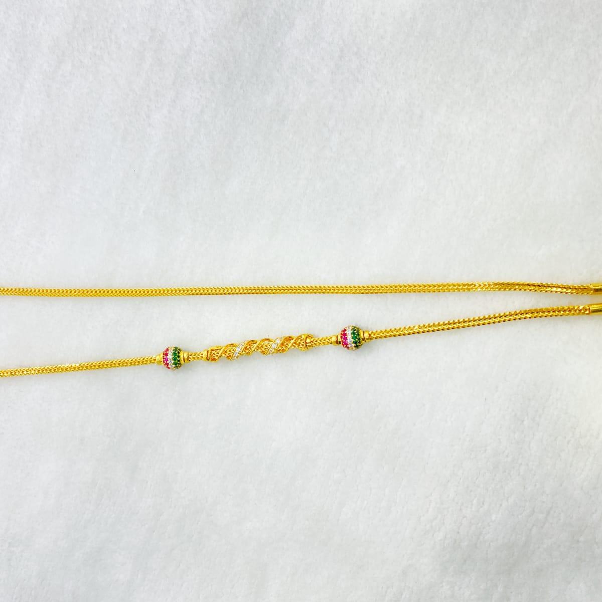 Fancy Long Twist Design Cz Chain Gj0095