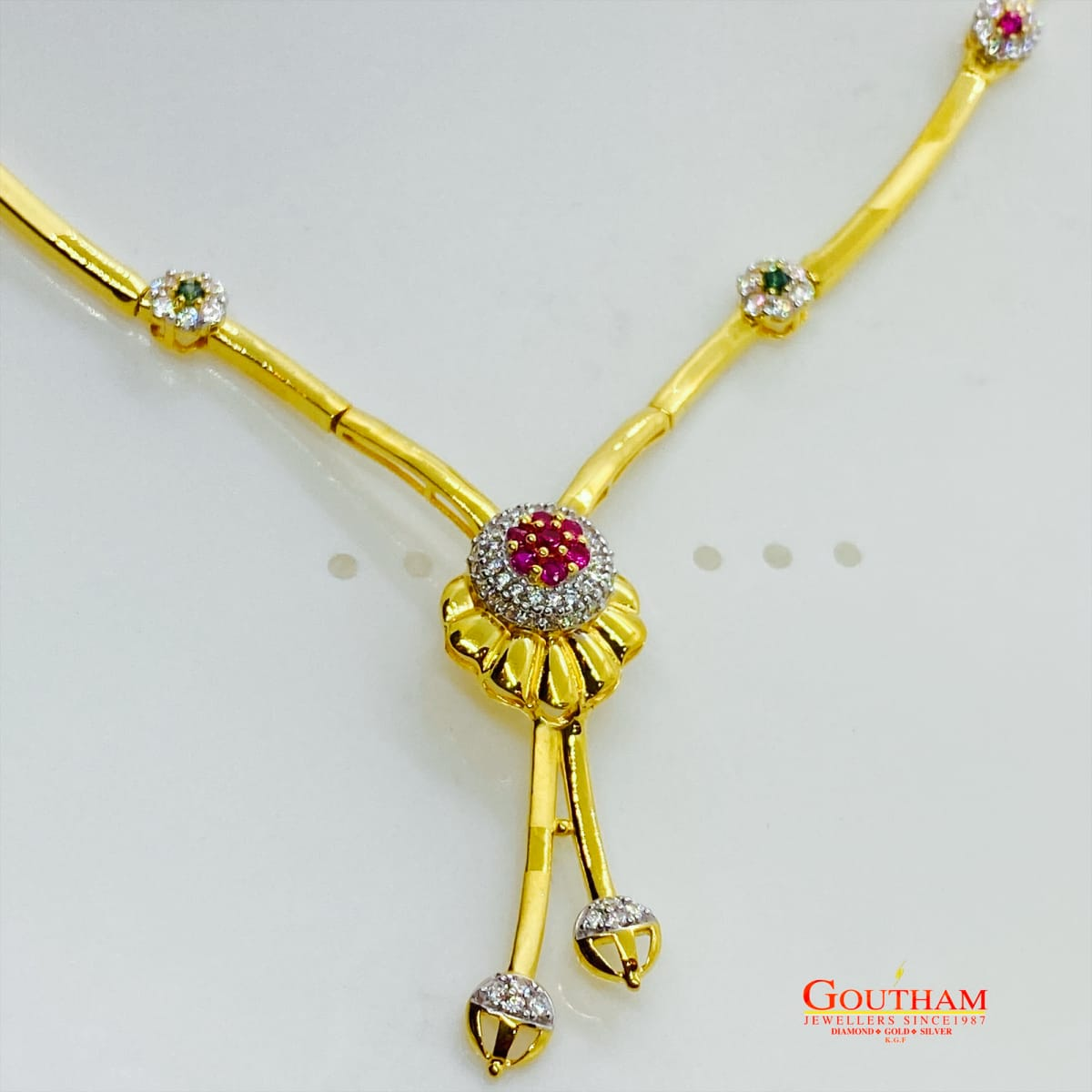 Fancy Classic Casting Necklace Set Gj0201