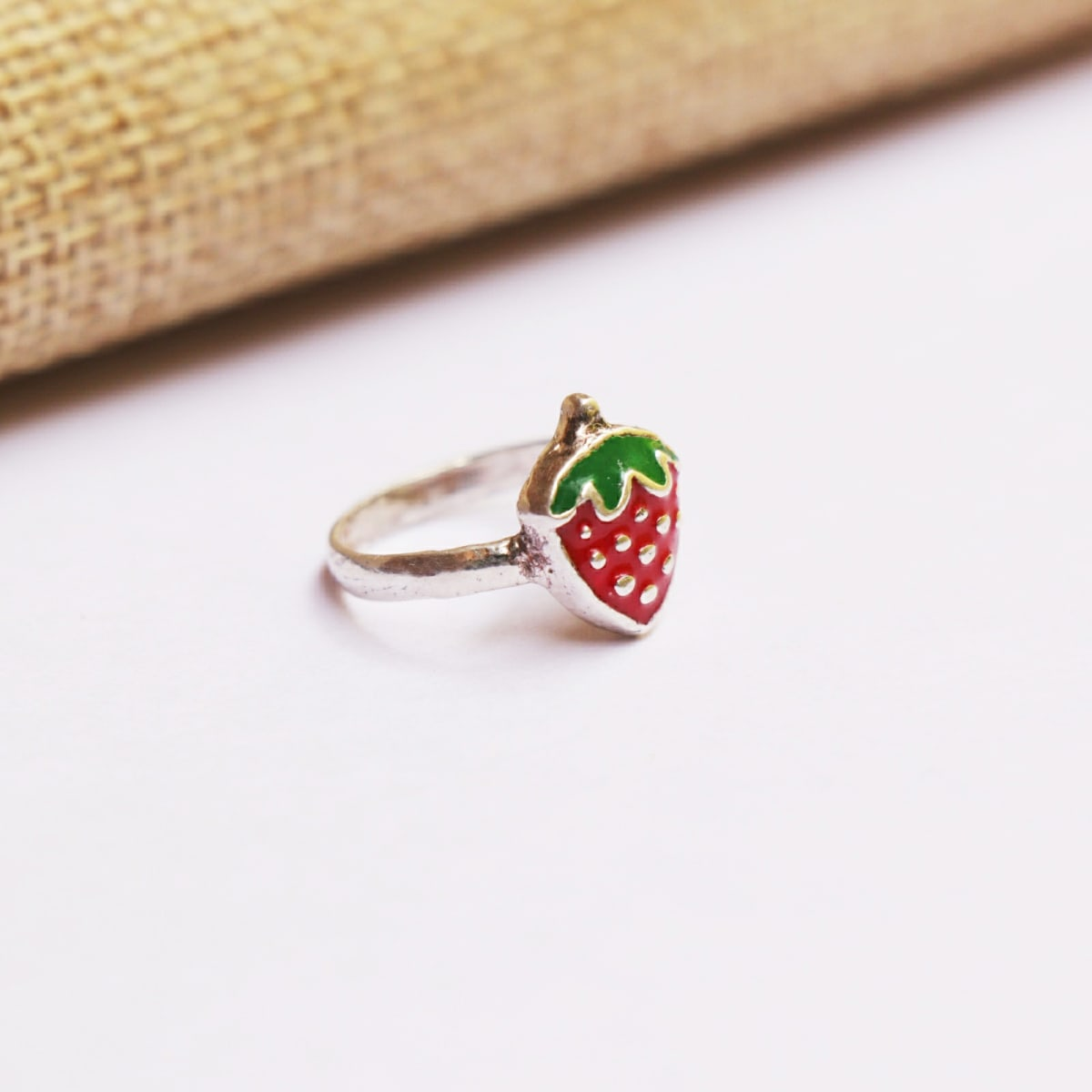 925 Silver Strawberry Ring