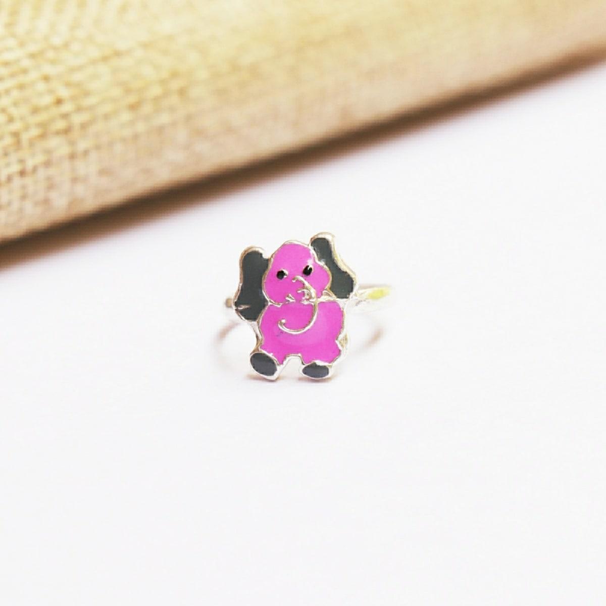925 Silver Elephant Ring