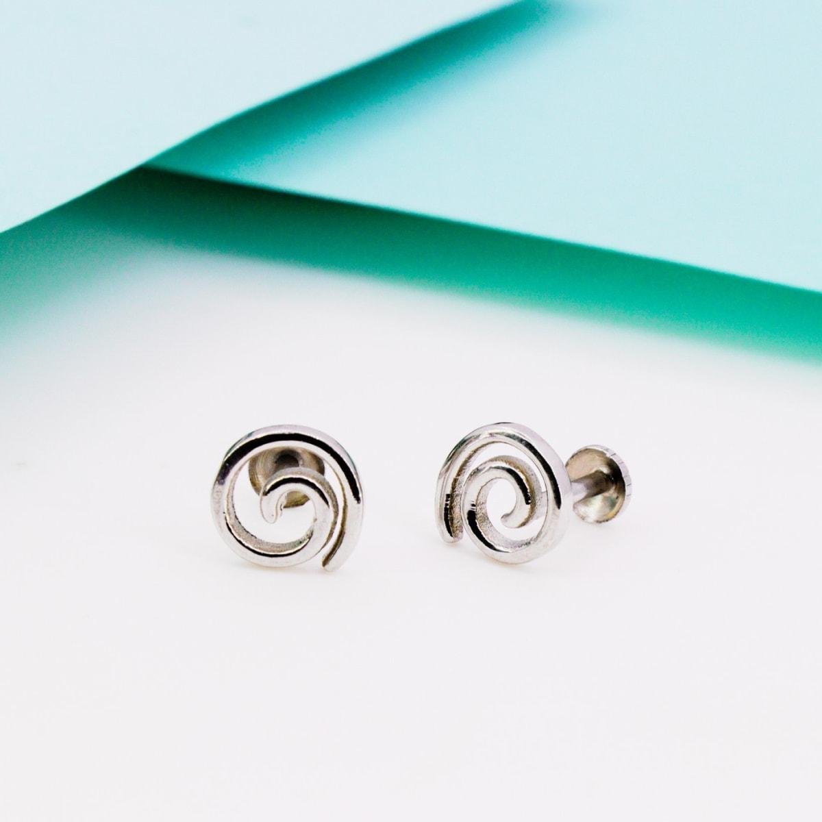 Spiral Silver Studs 925 Silver