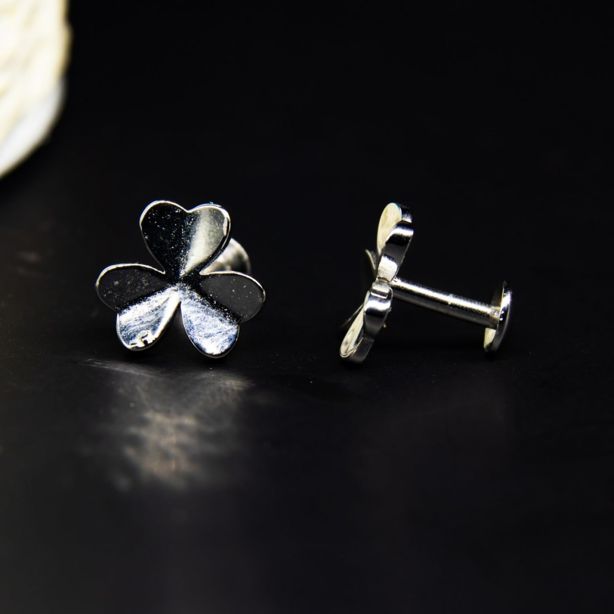 Silver Leaflet Studs 925 Silver