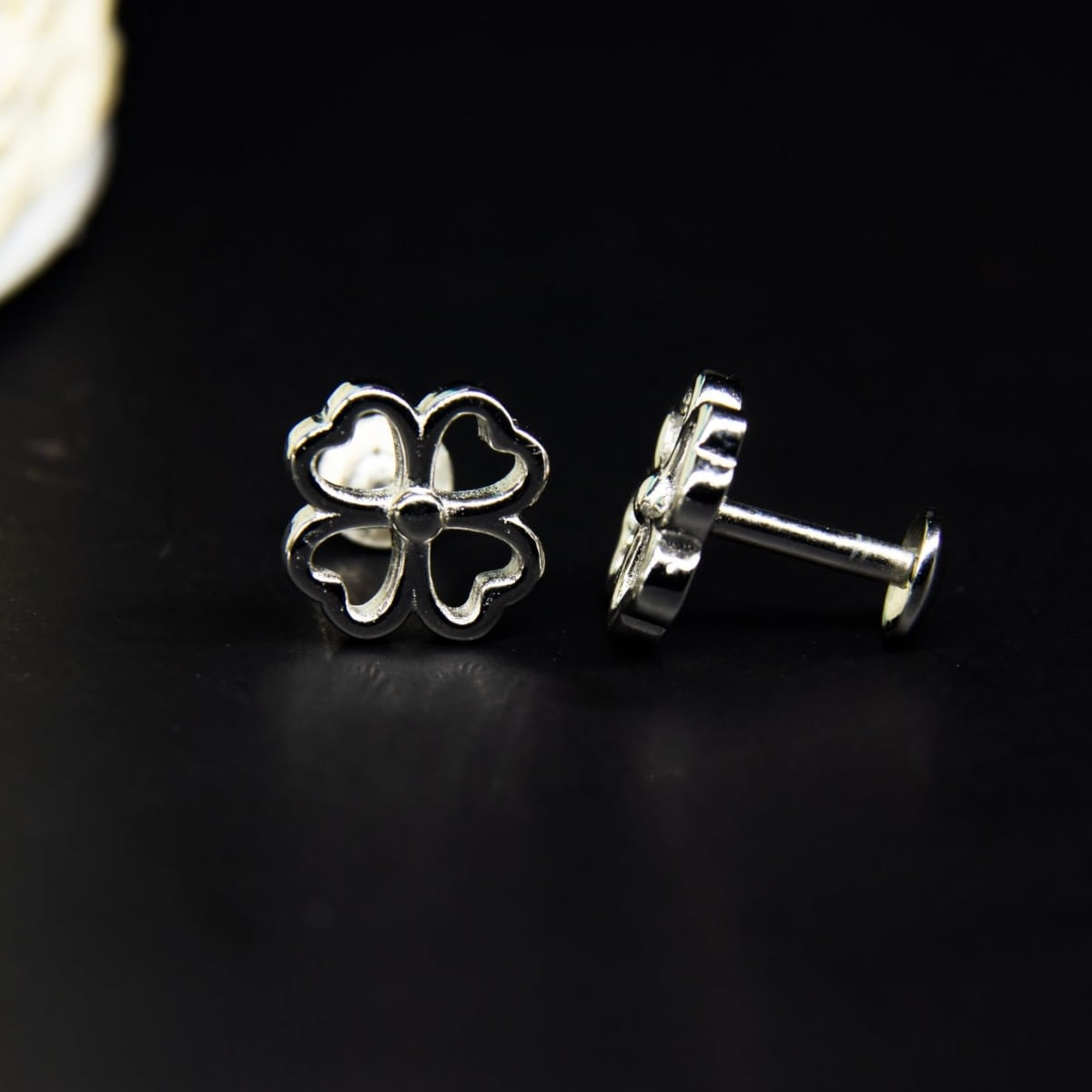 Silver Luster Studs 925 Silver
