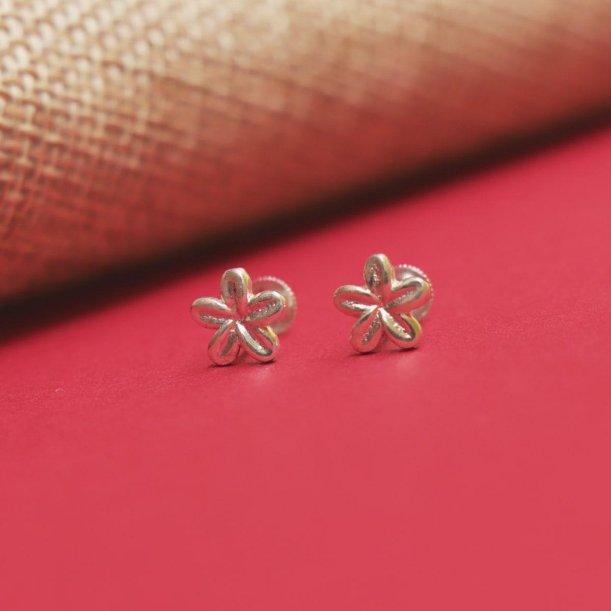925 Silver Flower Studs