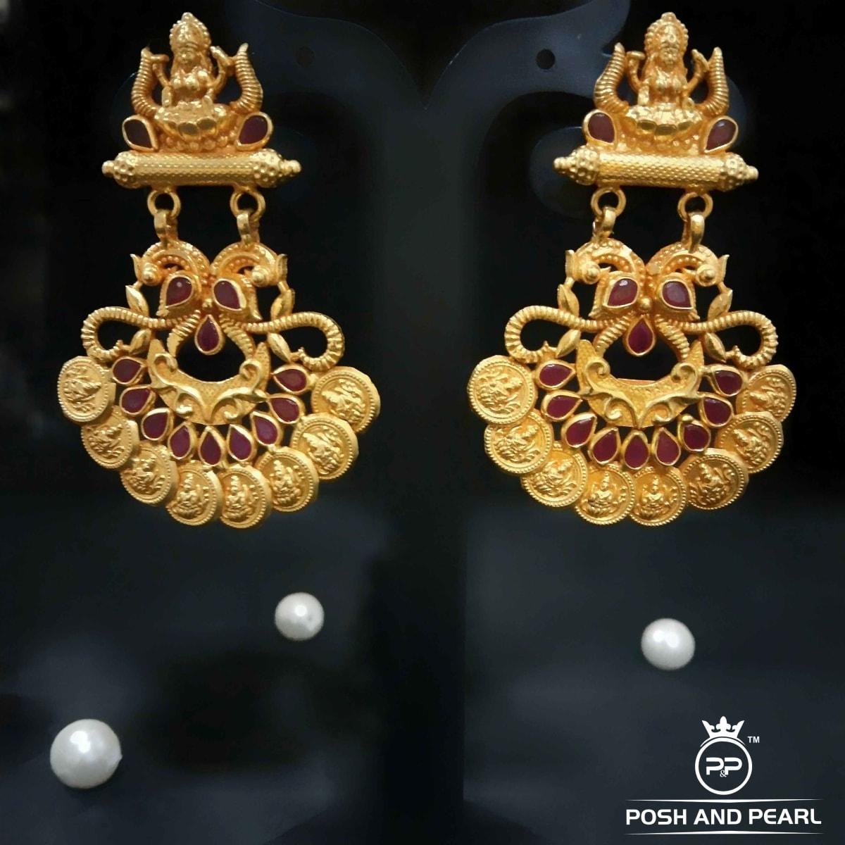 Fancy Laxmi Coin Earrings Pp0331