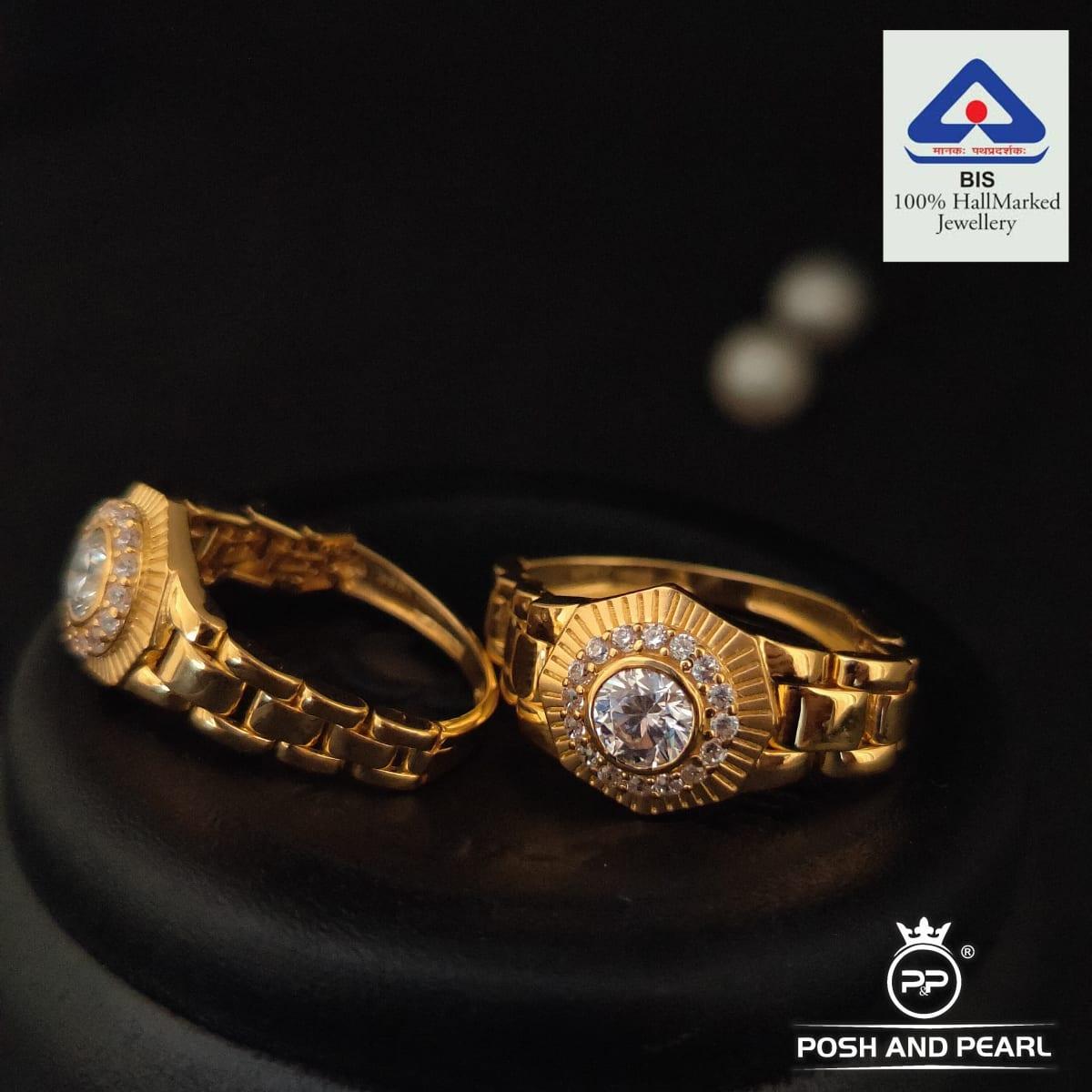 Royal Couple Cz Stone Ring Pp0444