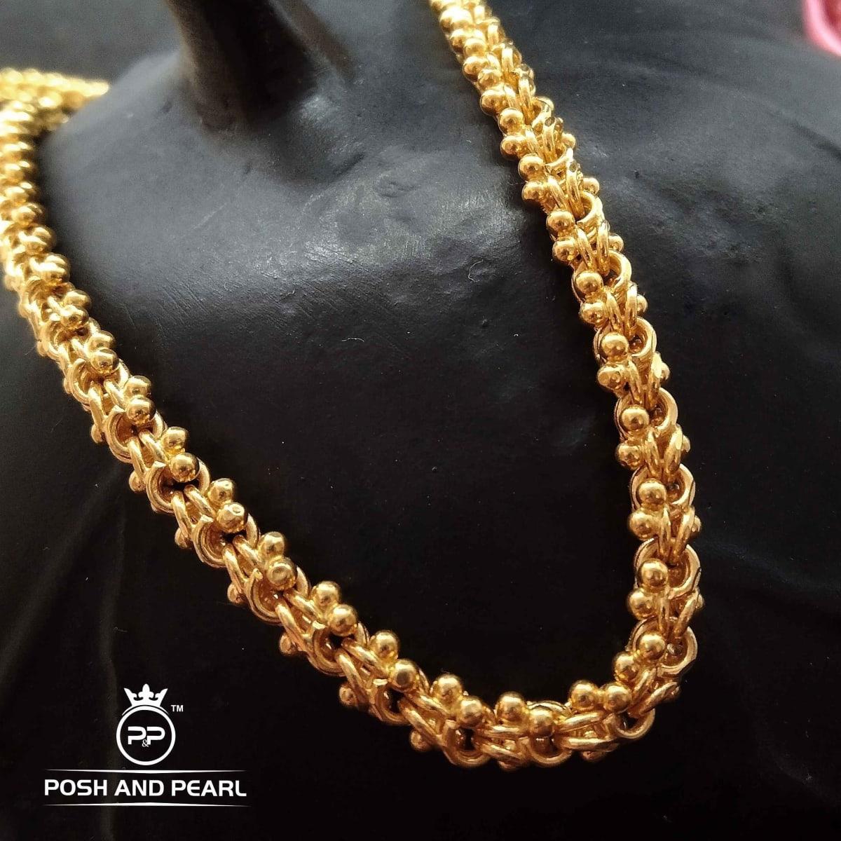 Hollow Shivaji Chain  Pp0293