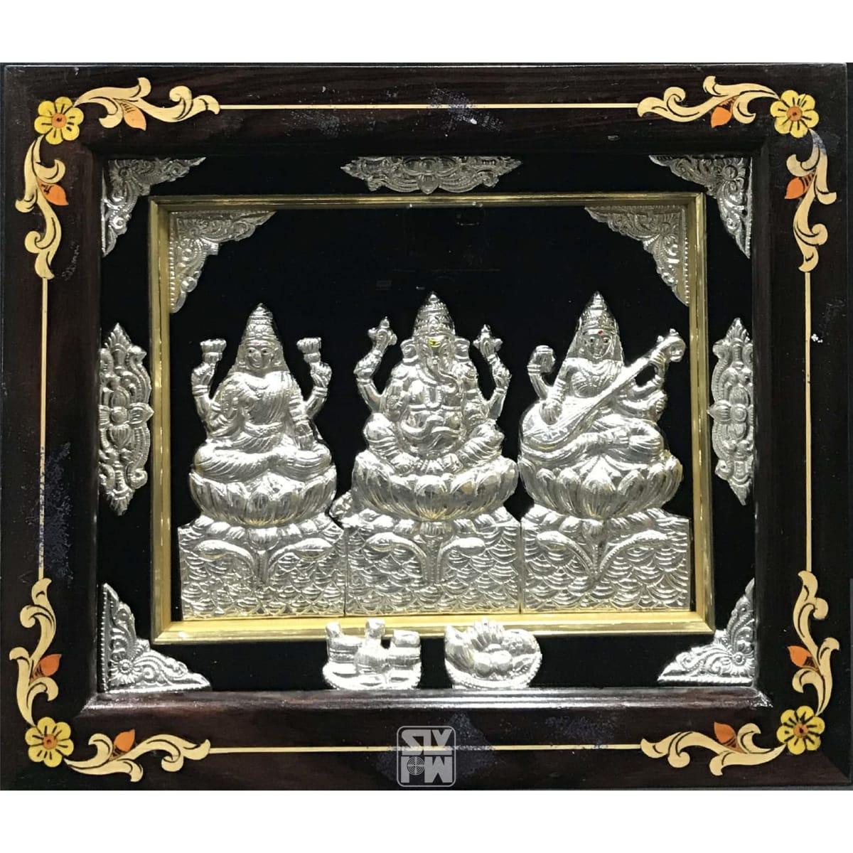Lakshmi Ganesha Saraswati 11x13