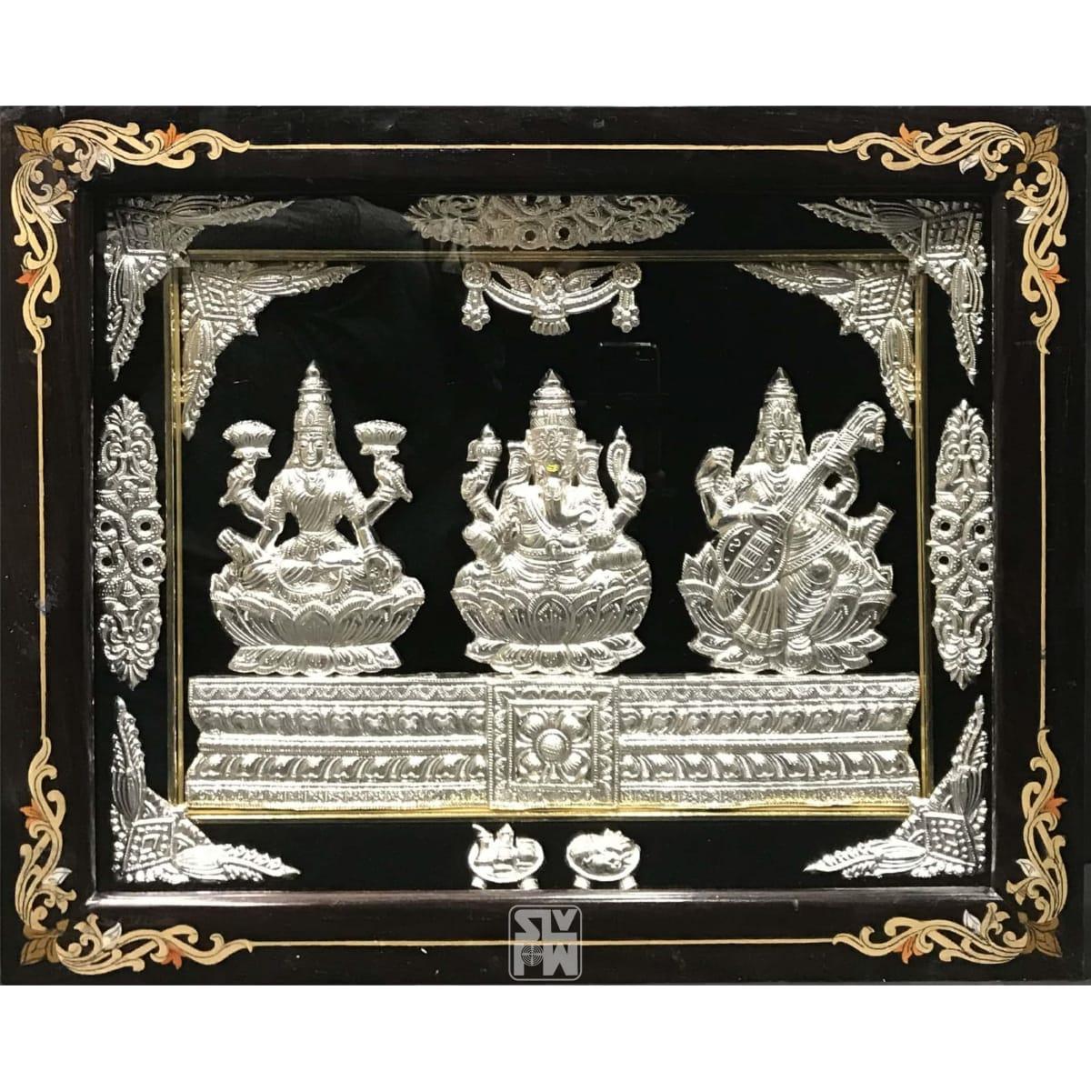Lakshmi Ganesha Saraswati Horizontal 18x22