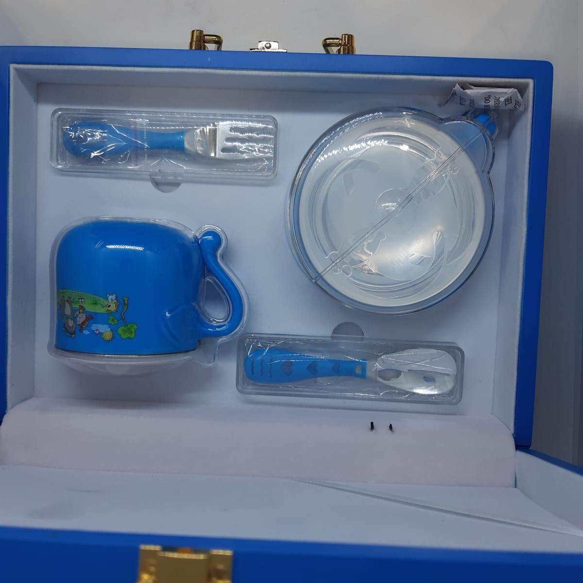 Blue Dinner Set For Kids