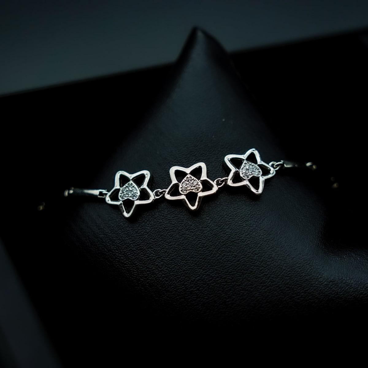 925 Silver Zircon Star Bracelet
