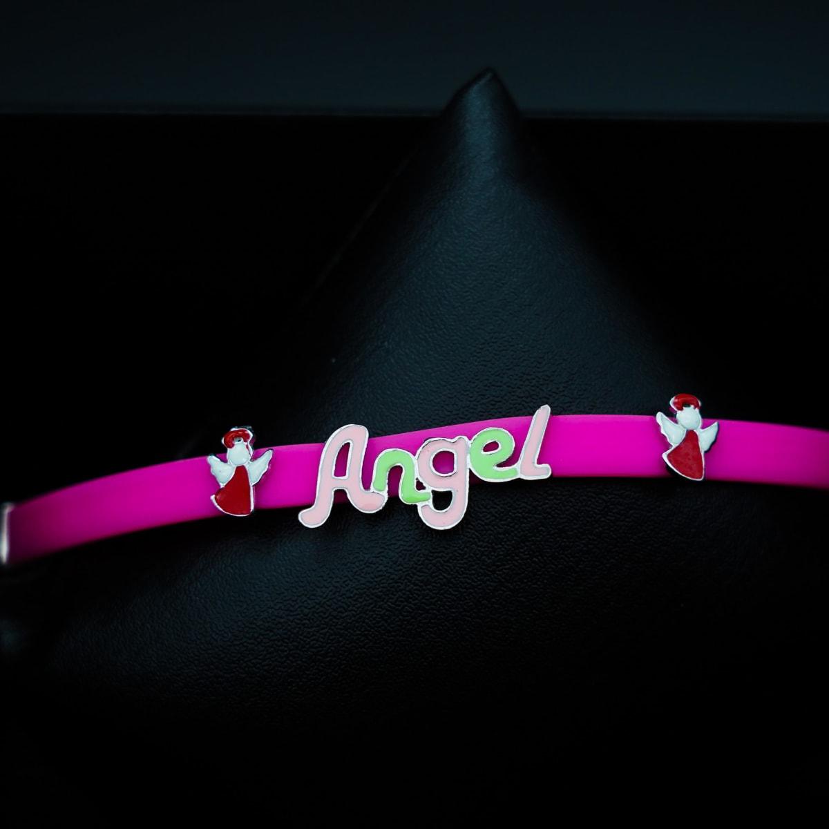 925 Silver Enamel Angel Bracelet
