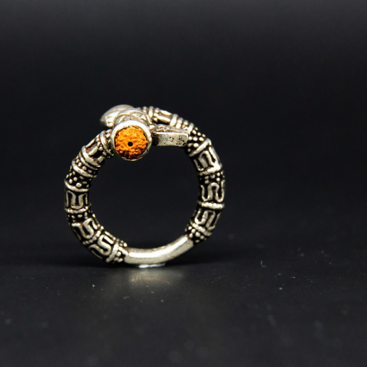 925 Silver Zircon Trident Ring