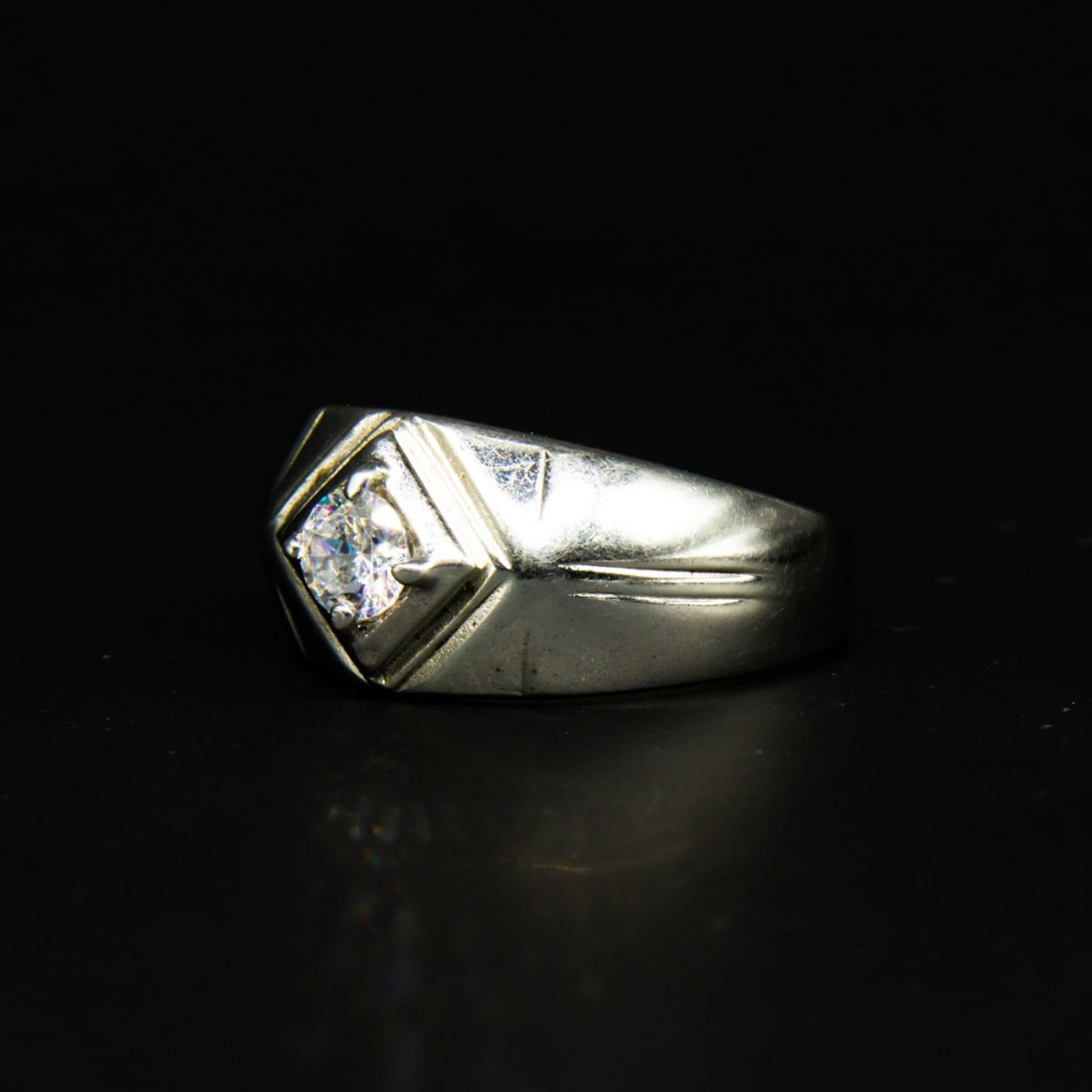 925 Silver Silver Intensity Ring