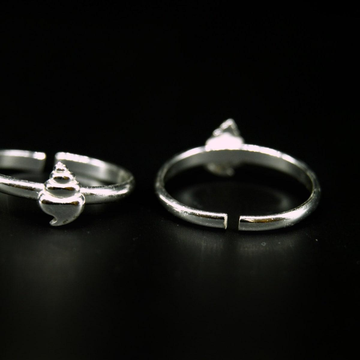 925 Silver Zircon Charm Toe Rings