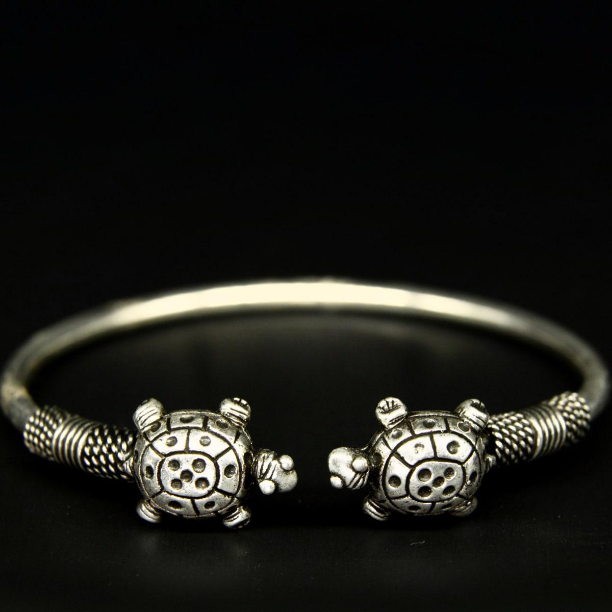 925 Silver Turtle Kada