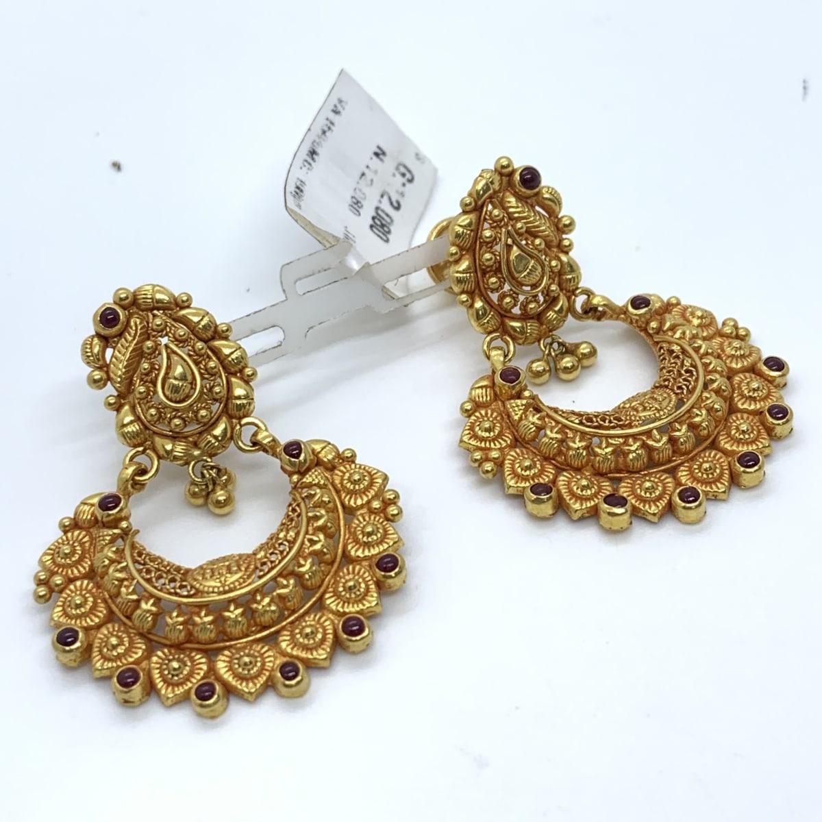 Floral Gold Chaandbali