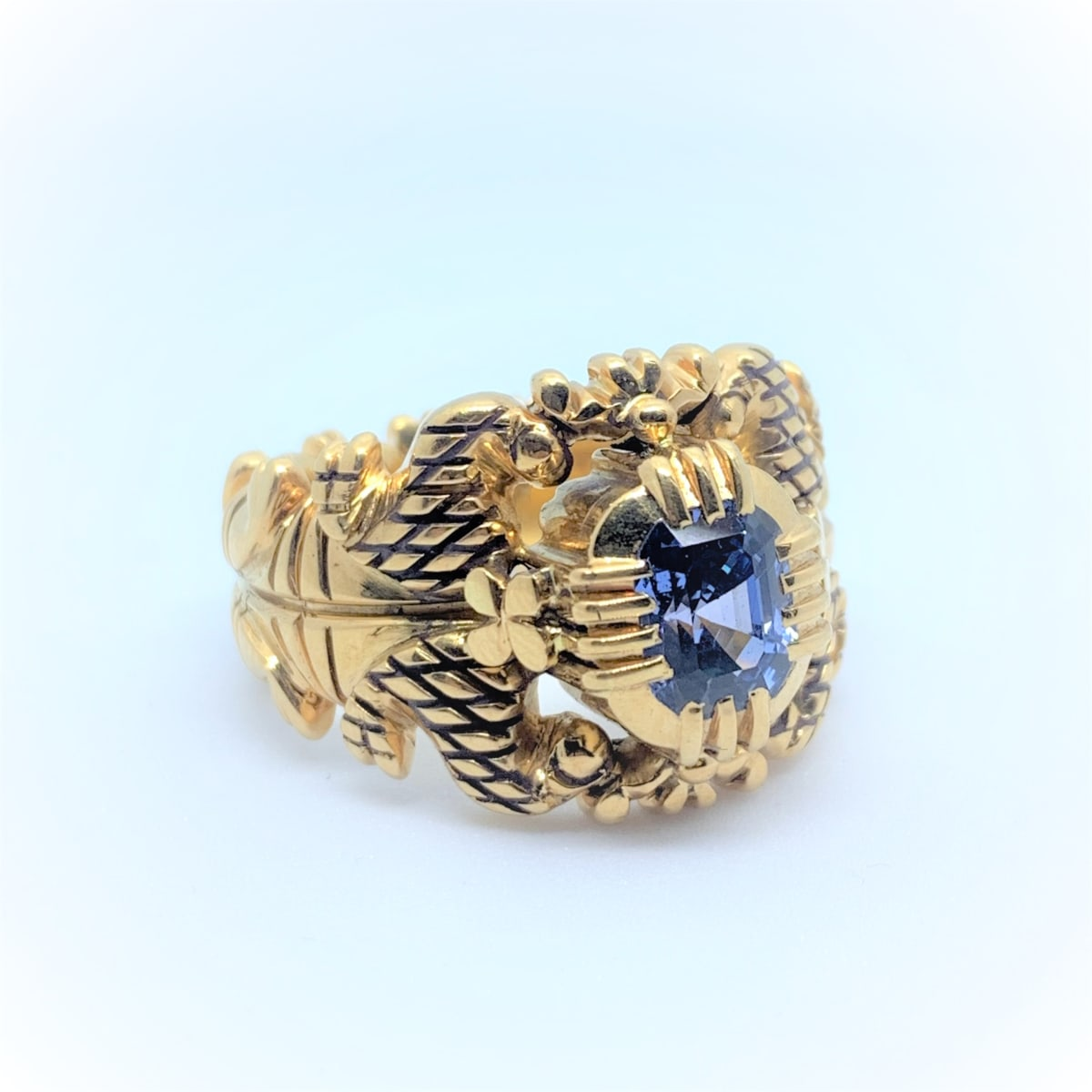 Blue Stone Antique Ring