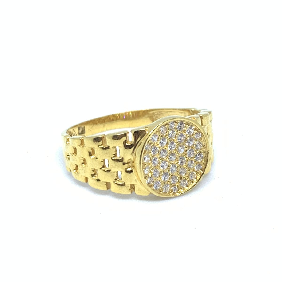 Ajay Gold Cz Ring