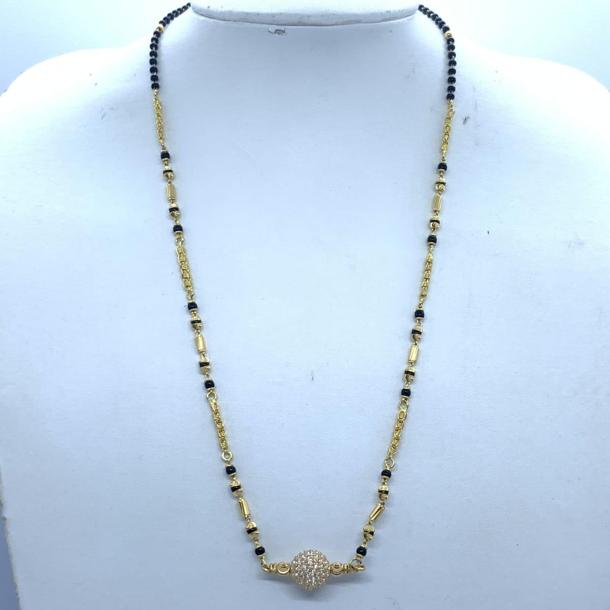 Gold Cz Mangalsutra