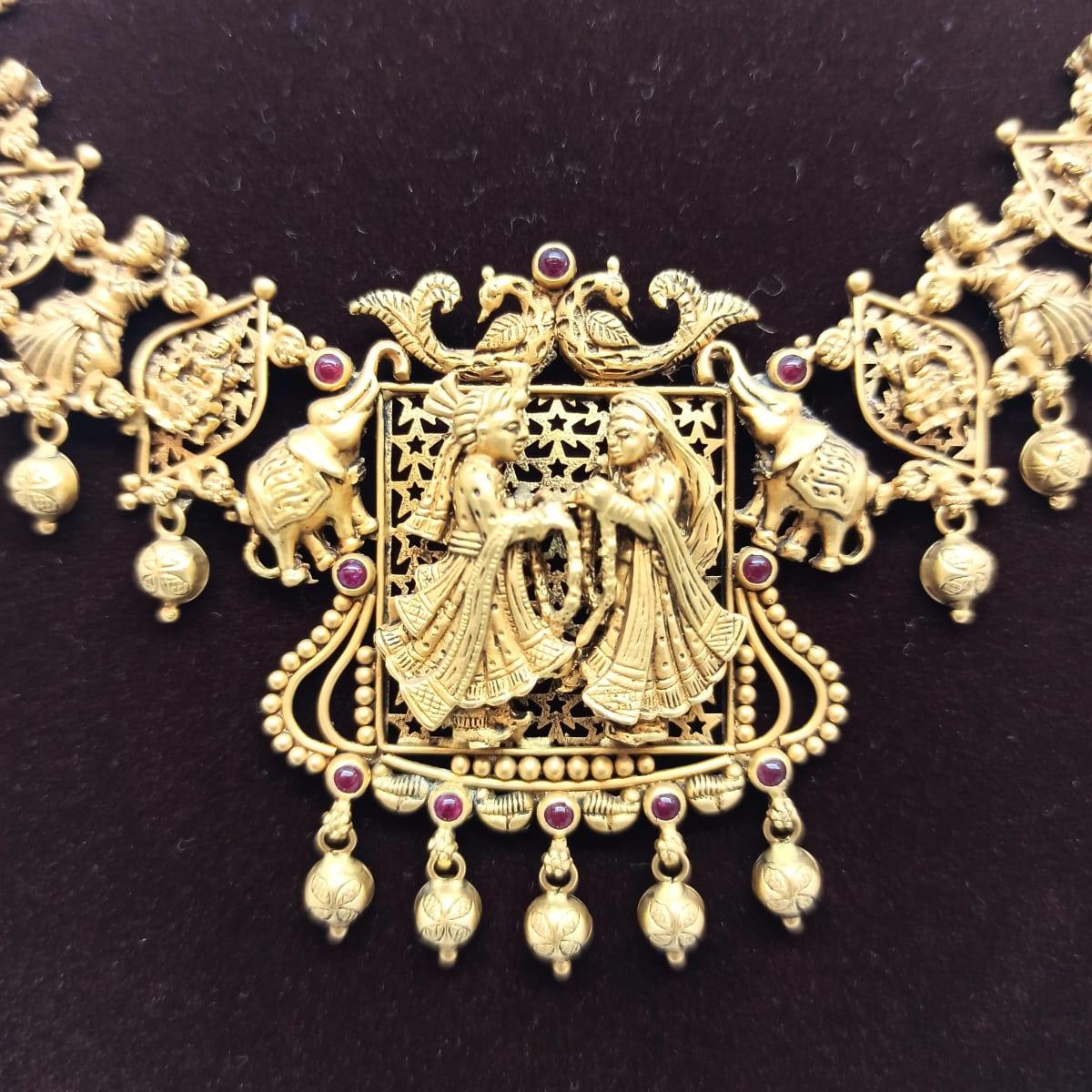 Antique Bride And Groom Necklace
