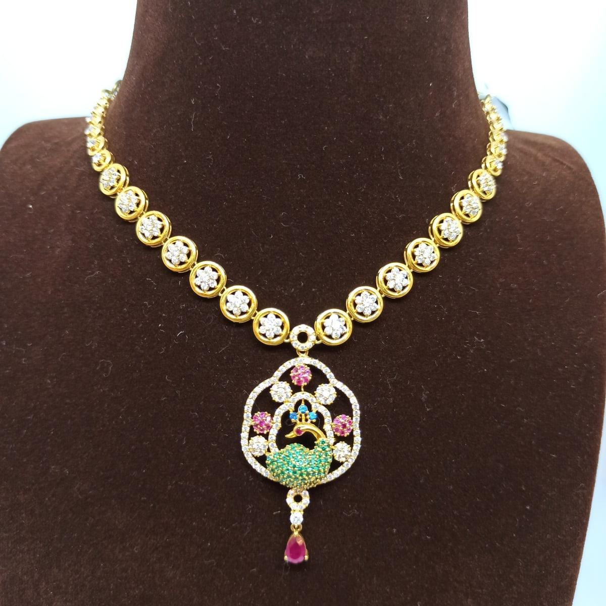 Peacock Cz Necklace