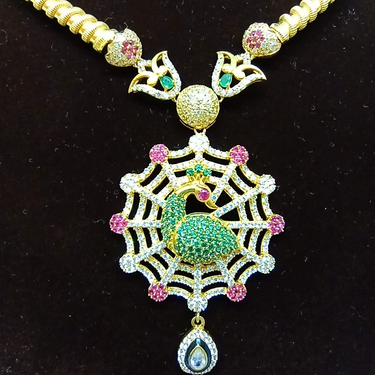 Peacock Web Styled Necklace