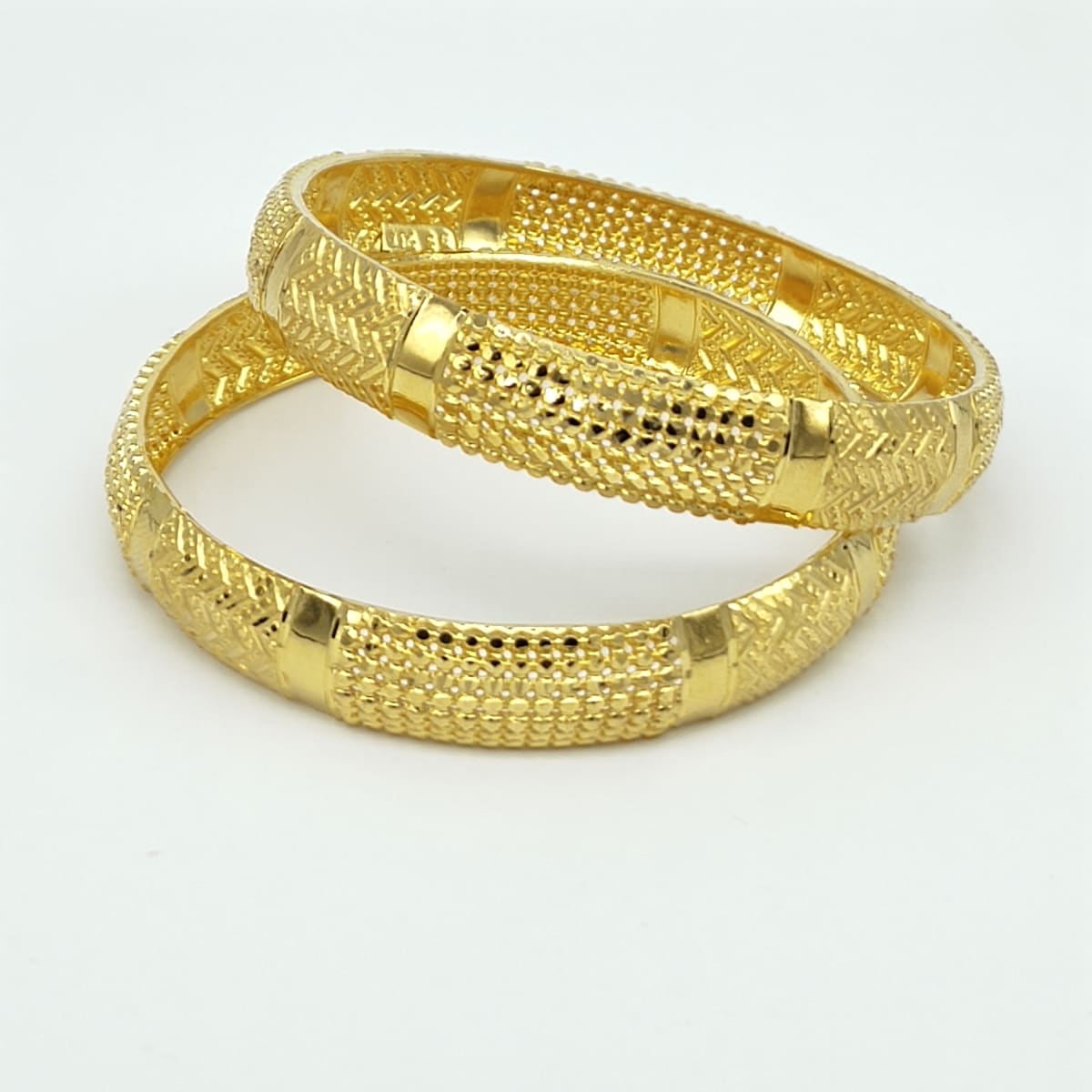 Gold Bangles  Top Design For Ladies - 2pcs