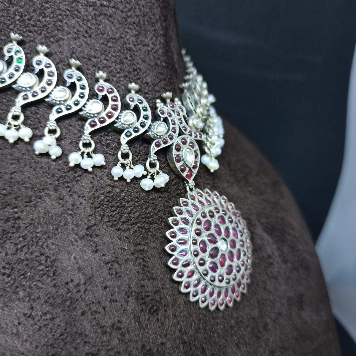 Peacock Stone Necklace