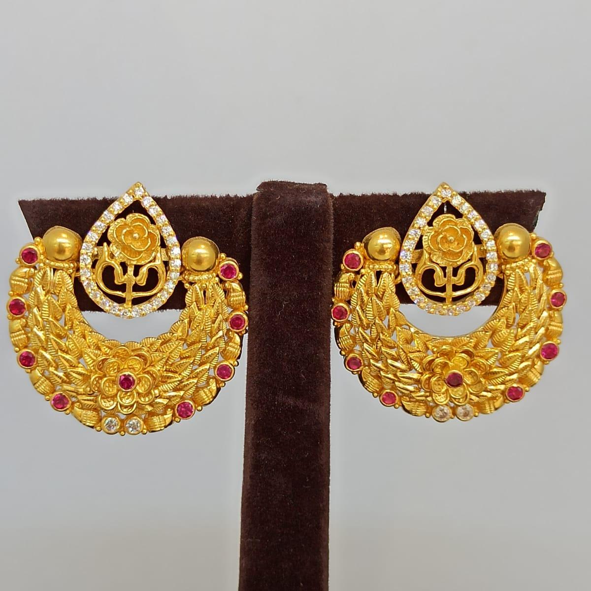 Floral Chaand Bali Earrings