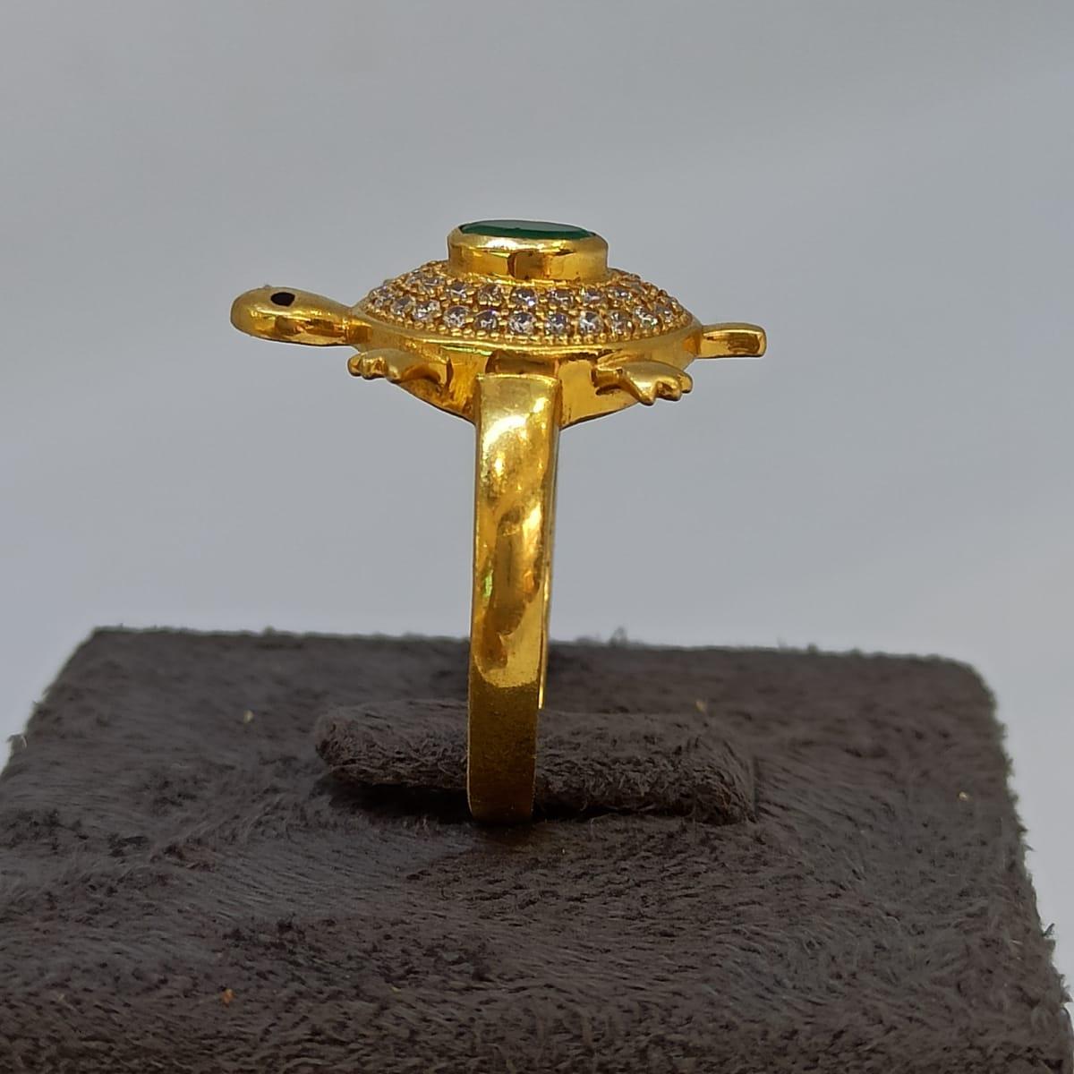 Emrald Turtle Ring